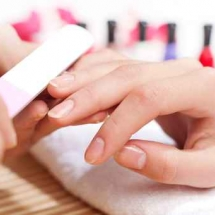 Hands Spa. Manicure concept